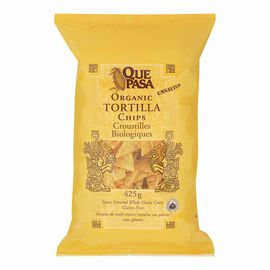 Que Pasa Organic Tortilla Chips - Unsalted - 425g