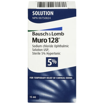 Bausch & Lomb Muro 128 5% Ophthalmic Solution - 15ml