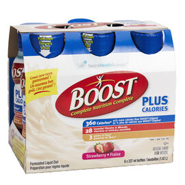 Boost Plus Calories Drink - Strawberry - 6 x 237ml