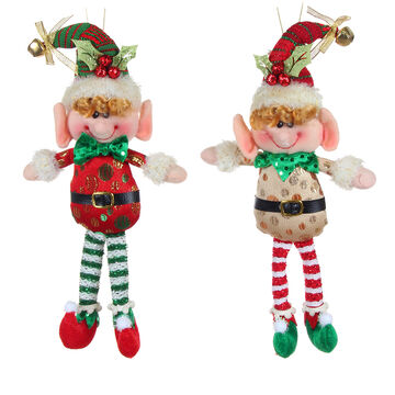 Winter Wishes Elf Hanging Ornament - 10 inch - Assorted