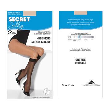 Secret Silky Knee High's - Nude - 2 pair