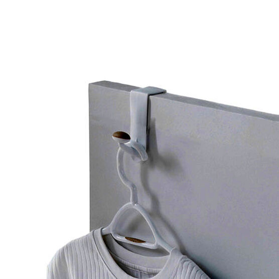 Non-Slip Over The Door Single Hook - White/Tan