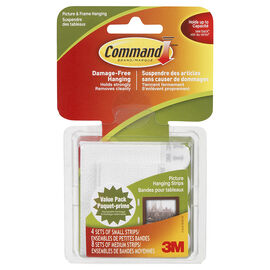Command™ Small and Medium Picture Hanging Strips - White - 12 strips