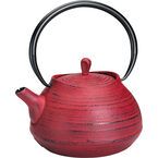 London Home Cast Iron Teapot - Red - 1.1L