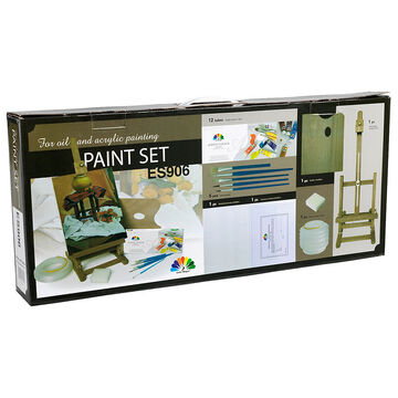 Acrylic Paint Set With Easel - 7 piece - SS00207