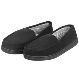 Perry Ellis Portfolio Premium Men's Slippers - Black - Assorted