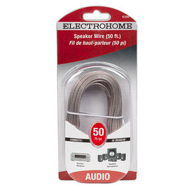 Electrohome 50-ft AWG Speaker Wire with Clear Insulation - ELS50