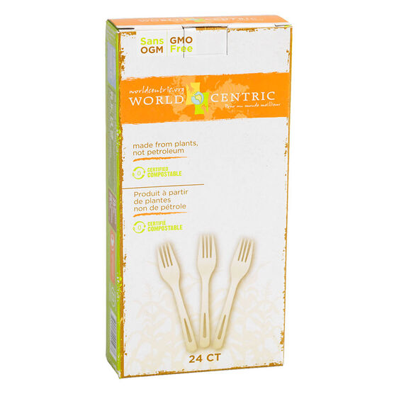 World Centric Compostable Forks - 24's