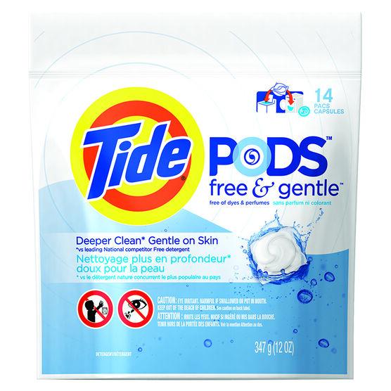 Tide Pods - Free & Gentle - 14's