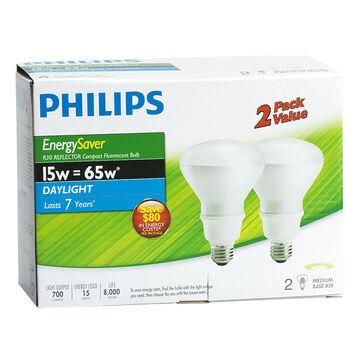 Philips 16W D/L Reflector - Compact Fluorescent Lighting  Light Bulb - 2 pack