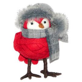 Christmas Forever Plush Bird - 5in - Red - XM-KH1073