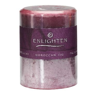 Enlighten Pillar Candle - Moroccan Fig - 3x4 inch
