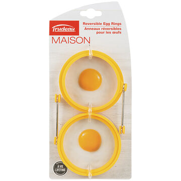 Home Presence Red Silicone Egg Rings - 2 pack