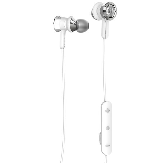monster clarity bluetooth in ear headphones white chrome. Black Bedroom Furniture Sets. Home Design Ideas