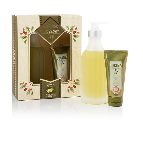 Fruit & Passion Cucina Hand Care Duo - Coriander and Olive Tree