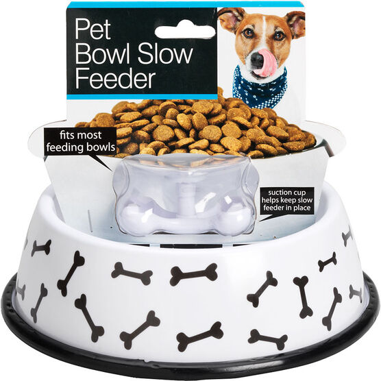 London Drugs Pet Bowl with Slow Feeder - Bones - 8""