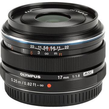 Olympus M.Zuiko 17mm f1.8 - Black - 311050BU000