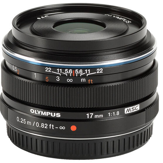 Olympus M.Zuiko 17mm f1.8 - Black - 311050BU000