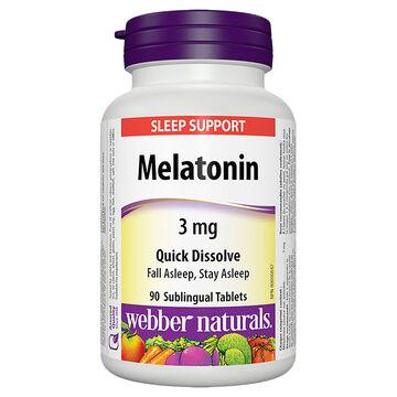 Webber Naturals Melatonin 3mg - 90's