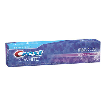 Crest 3D White Toothpaste - Radiant Mint - 130ml