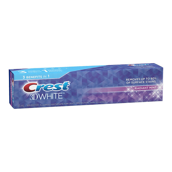 Crest 3D White Toothpaste - Radiant Mint - 130ml