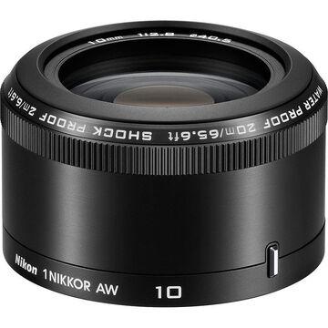 Nikon 1 AW 10mm f/2.8 Lens - Black - 3361
