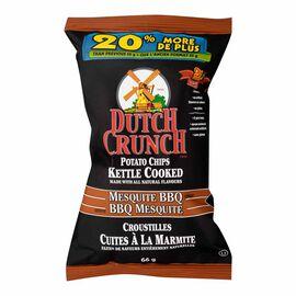 Dutch Crunch Kettle Cooked Potato Chips - Mesquite BBQ - 66g