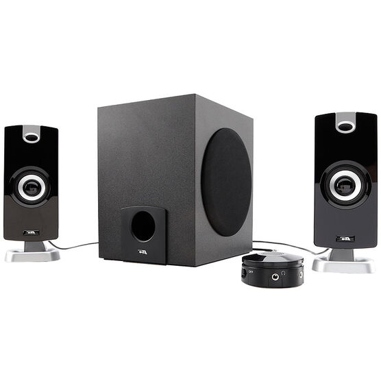 Cyber Acoustics 9W Powered 2.1 Speaker System With Control Pod - Black - CA-3090
