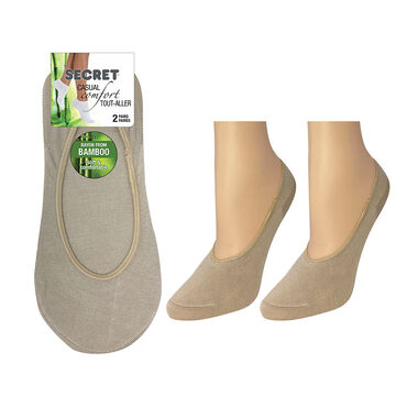 Secret Nature Bamboo Foot Covers - Stone - 2 pair