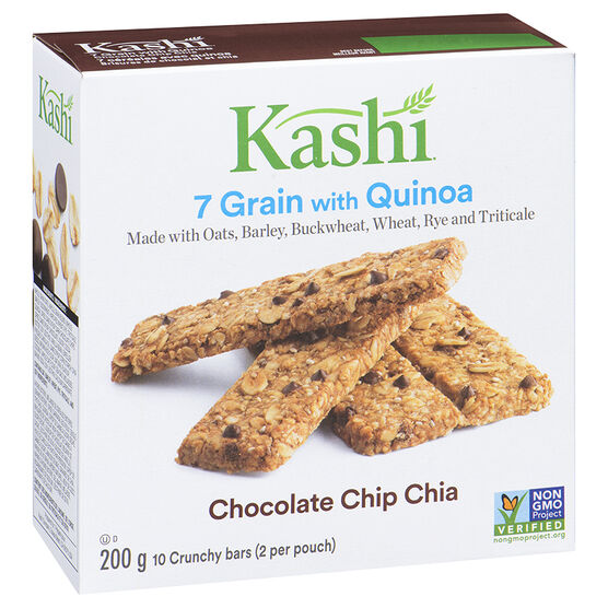 Kashi Quinoa Crunch - Chocolate Chip Chia - 10 pack