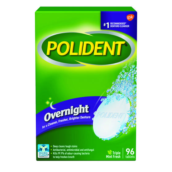 Polident Overnight Tablets - 96's
