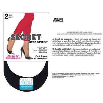 Secret Foot Cover Extreme Low Cut - Black - 2 pair