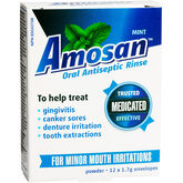 Amosan Oral Antiseptic Rise - Mint - 12 x 1.7g