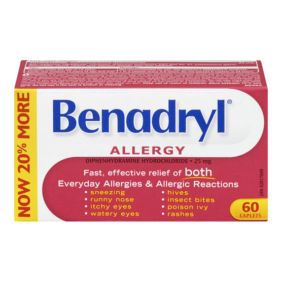 Benadryl Allergy Caplets - 25mg - 60's