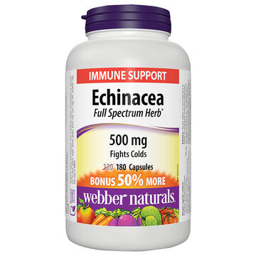 Webber Naturals Echinacea Full Spectrum Herb - 500mg - 180's