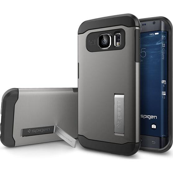 Spigen Slim Armor Case for Samsung Galaxy S6 Edge - Gunmetal - SGP11423