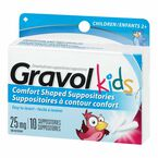 Gravol Child's Rectal Suppository 25mg - 10's
