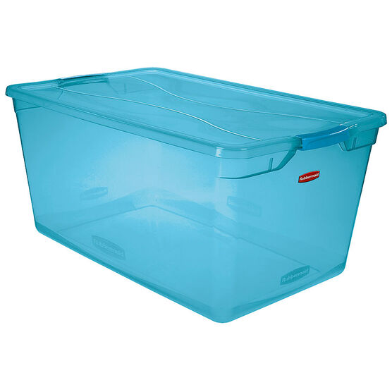 Rubbermaid Cleverstore Tote - Blue - 89L