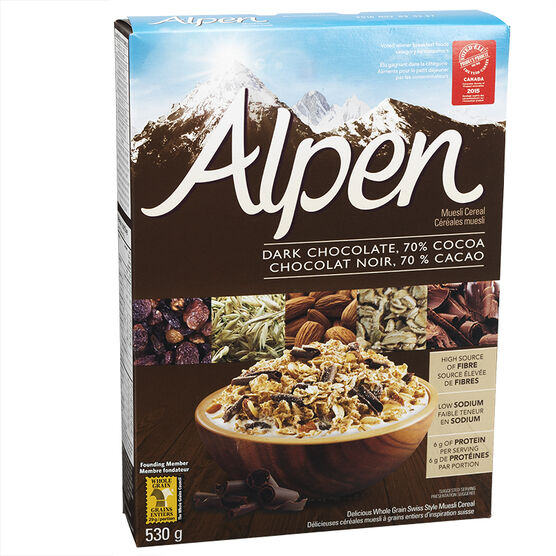 Weetabix Alpen Muesli Cereal - Dark Chocolate - 530g