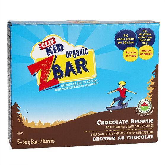 Clif Kid Organic Zbar - Chocolate Brownie - 5 pack