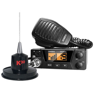 Uniden 40 Channel CB Radio with K40 Antenna - PKG 52128