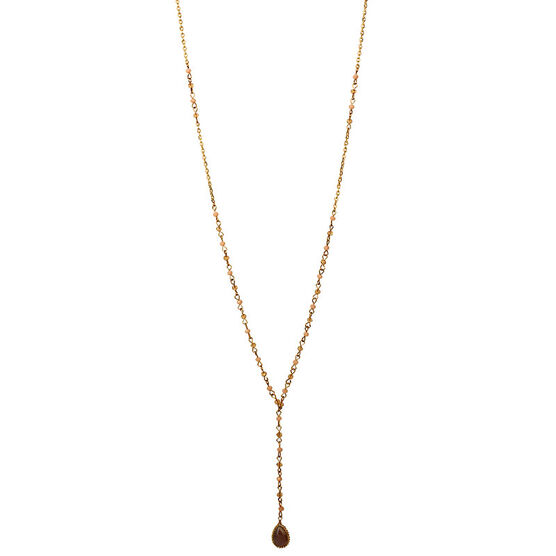 Haskell Beaded Y Necklace - Multi/Gold