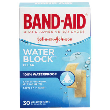 Johnson & Johnson Band-Aid Clear Water Block Plus - Assorted - 30's