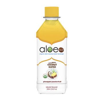 Aloe H20 Organic Aloe + Coconut Water Beverage - Pineapple-Passion Fruit - 500ml