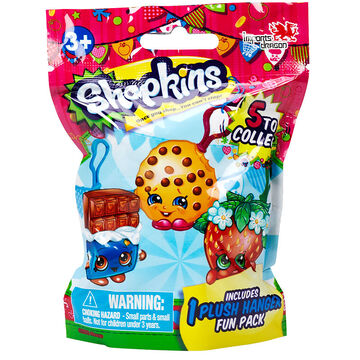 Shopkins Plush Hangers - Assorted - 1 Per Pack