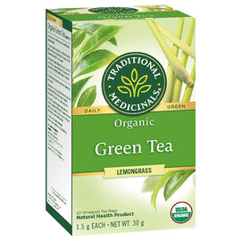 Traditional Medicinals Premium Tea - Green Tea with Lemongrass - 20's