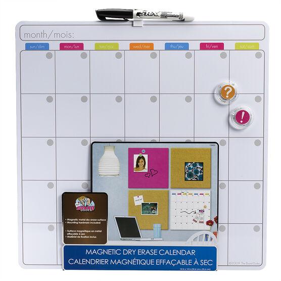 Board Dudes Magnetic Dry-Erase Calendar - 14 x 14inch