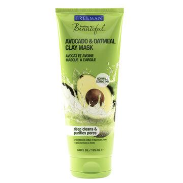 Freeman Beautiful Facial Clay Mask - Avocado & Oatmeal Facial - 175ml