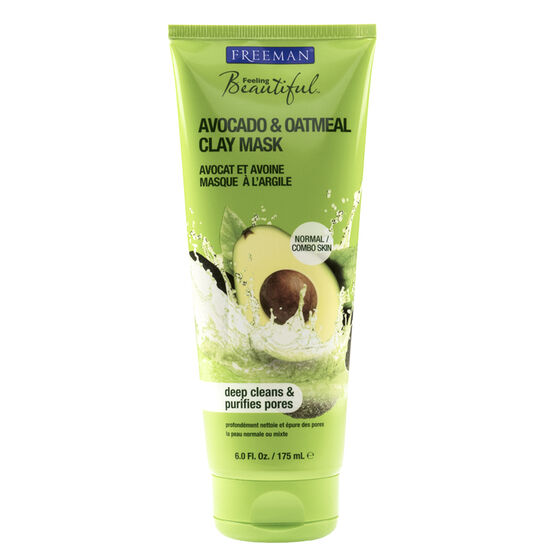 Freeman Beautiful Facial Clay Mask - Avocado & Oatmeal Facial - 175ml