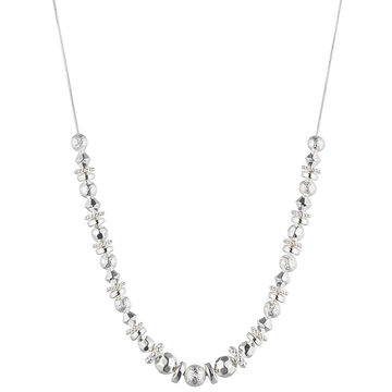 Nine West 16-inch Frontal Necklace - Silver Tone